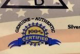 США Слиток серебра 999 пробы с сертификатом подлинности 5 гран, фото №4
