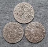 1/24 талера 1600-х годов. Густав Адольф. Швеция и Эльбинг ( 3 штуки )., фото №2
