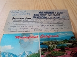 Винтажная открытка с марками США, фото №4