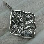 Новый Серебряный Кулон Подвеска Ладанка Богородица Мария Серебро 925 проба 794 фото 1