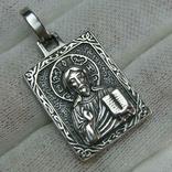 Серебряный Кулон Образок Иисус Христос Пантократор Всемогущий Господь 925 проба 791, фото №2