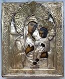 Ікона Іверська Богородиця, латунь, позолота, 13,6х11,4 см, фото №2