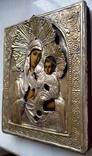 Ікона Іверська Богородиця, латунь, позолота, 13,6х11,4 см, фото №7