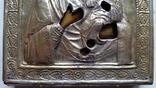 Ікона Іверська Богородиця, латунь, позолота, 13,6х11,4 см, фото №10