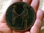 Медаль настольна 1933 року Німеччина.Точна копія Карл Гуєц, фото №3