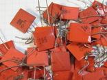 Конденсаторы красные 113,4 г, фото №5