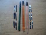 Перьевые ручки-3шт +12 перьев.СССР., фото №2