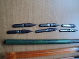 Перьевые ручки-3шт +12 перьев.СССР., фото №3