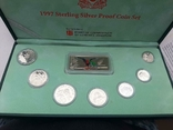1997 Singapore Sterling Silver Proof Coin Set (1 - 5 Coin), фото №2