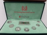1997 Singapore Sterling Silver Proof Coin Set (1 - 5 Coin), фото №3