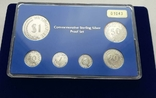 1971-1981 SINGAPORE 10TH ANNIVERSARY COMMEMORATIVE STERLING SILVER PROOF SET, фото №2