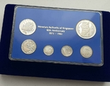 1971-1981 SINGAPORE 10TH ANNIVERSARY COMMEMORATIVE STERLING SILVER PROOF SET, фото №5