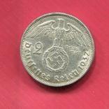 Германия 2 марки 1937 Рейх серебро, фото №2
