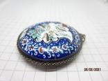 Кулон медь серебро эмаль царская, фото №5