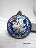 Кулон медь серебро эмаль царская, фото №11
