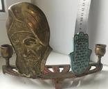 Подсвечник с табличкой на иврите, фото №2