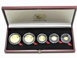 Набор золотых монет о-в Мэн 2003 г.  Золотой Век., фото №2