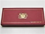Набор золотых монет о-в Мэн 2003 г.  Золотой Век., фото №3