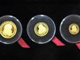 Набор золотых монет о-в Мэн 2003 г.  Золотой Век., фото №8
