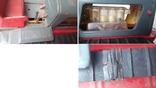 3443 детская игрушка из СССР на батарейке с лампочкой гусеничный трактор, фото №7
