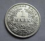 1 марка 1909 г. (D), Германия, серебро, фото №4