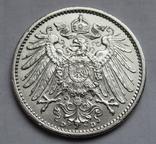 1 марка 1909 г. (D), Германия, серебро, фото №10
