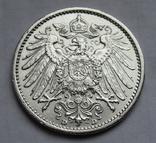 1 марка 1909 г. (D), Германия, серебро, фото №11