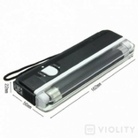 Ультрафиолетовый портативный детектор валют карманный фото 4