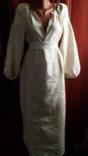 Старинная  вышиванка белым по белому с вырезанием., фото №3