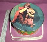 Барабан КЛОУН - детская игрушка из СССР., фото №6