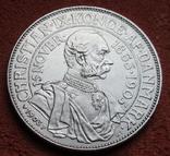 2 кроны 1903 г. Дания, серебро, фото №9
