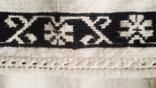 Старинная вышиванка черная нитка ( Сумщина), фото №9
