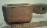 Деревянная-ступка-вес-900гр, фото №3