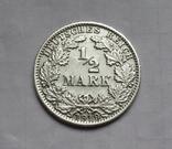 1/2 марки 1919 г. (А) Германия, серебро, фото №3