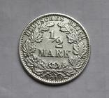 1/2 марки 1919 г. (А) Германия, серебро, фото №4