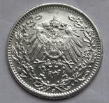 1/2 марки 1919 г. (J) Германия, серебро, фото №10