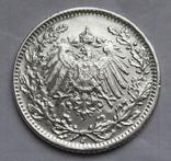 1/2 марки 1919 г. (J) Германия, серебро, фото №13