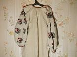 Старинная льняная сорочка, фото №3