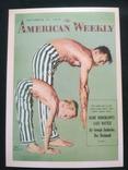 "Открытка в винтажном стиле ""American Weekly"", фото №2"