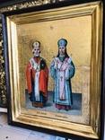 Икона на золоте Св. Николай и Св. Иоасаф Белгородский, фото №3