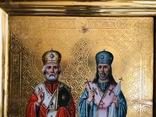 Икона на золоте Св. Николай и Св. Иоасаф Белгородский, фото №6