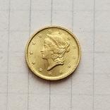 США 1 доллар 1853 г. (копия), фото №2