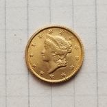 США 1 доллар 1854 г. (копия), фото №2