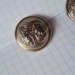 2 пуговицы с фрака герб корона. Франция 26 мм, фото №3