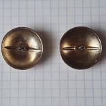 2 пуговицы с фрака герб корона. Франция 26 мм, фото №10