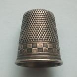 Наперсток старинный серебро Европа 800 проба, фото №2