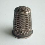 Наперсток старинный серебро Европа 800 проба, фото №8