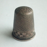 Наперсток старинный серебро Европа 800 проба, фото №9