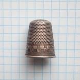 Наперсток старинный серебро Европа 800 проба, фото №12
