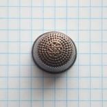 Наперсток старинный серебро Европа 800 проба, фото №13